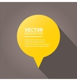 flat orange paper speech bubble vector image