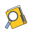 folder file and magnifier technology data storage vector image vector image