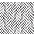 geometric pigtail pattern vector image vector image