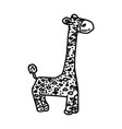 giraffe dog toy icon doodle hand drawn or outline vector image