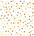 Golden seamless pattern with triangles vector image