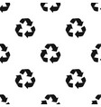green recycling sign icon in black style isolated vector image