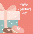 happy valentines day cute gift box with dots and vector image