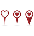 heartlocationpointer vector image vector image