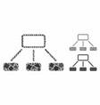 hierarchy composition icon uneven pieces vector image vector image