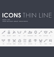 knight-wars thin line icons vector image