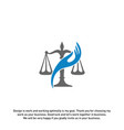 law care logo design template law firm logo vector image vector image