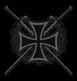 medieval heraldic emblem design iron cross vector image vector image
