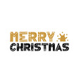 merry christmas text design logo typography vector image