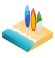 modern colorful surfboard Holiday vector image vector image