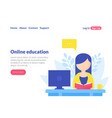 online education landing page template distance vector image vector image