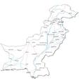 Pakistan Black White Map vector image vector image