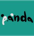 panda beautiful text vector image
