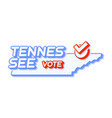 presidential vote in tennessee usa 2020 state vector image vector image