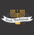 Rosh hashanah text lettering happy jewish new