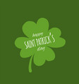 saint patrick day greeting card for your design vector image