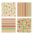 Set of bright retro patterns vector image vector image