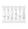 set of classic balusters vector image vector image