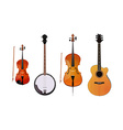 Set of orchestra and folk instruments vector image
