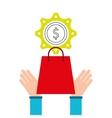 shopping e-commerce money icon graphic vector image