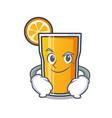 smirking orange juice character cartoon vector image vector image