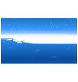 Snow water landscape vector image