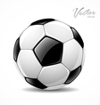 Soccer ball sport football game vector image