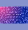 space exploration banner vector image