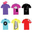 t-shirt set on sale color vector image