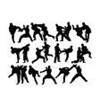 taekwondo and karate silhouettes vector image vector image