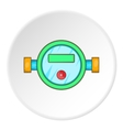 Water meter icon cartoon style vector image vector image