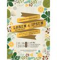 Wedding invitation card with flourish background vector image