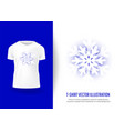 winter surround snowflake t-shirt print mockup vector image