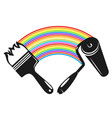 brush and roller with paint vector image