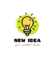 funny doodle style light bulb logo Sketchy vector image