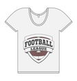 Single white T-Shirt with Football Label vector image