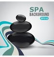 Abstract background with Spa stones vector image vector image