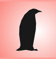 abstract penguin silhouette on living coral vector image vector image