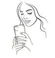 beautiful girl takes a selfie 1 beautiful girl vector image