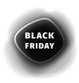 black friday smoothed black banner vector image vector image