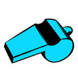 blue sport whistle icon icon cartoon vector image vector image