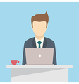 Businessman with laptop vector image vector image