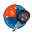 car rental symbol vector image vector image