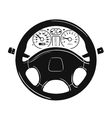 car steering wheel logo design template vector image vector image
