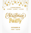 christmas party poster template gold on white vector image vector image