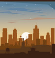 colorful background of dawn landscape of city vector image