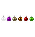 colorful isolated round christmas balls set vector image vector image