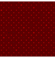 Crimson Red Star Polka Dots Background vector image vector image