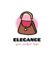 cute woman bag sketchy logo Bags shop vector image vector image