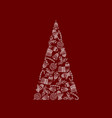 decorative christmas tree from christmas symbol vector image vector image